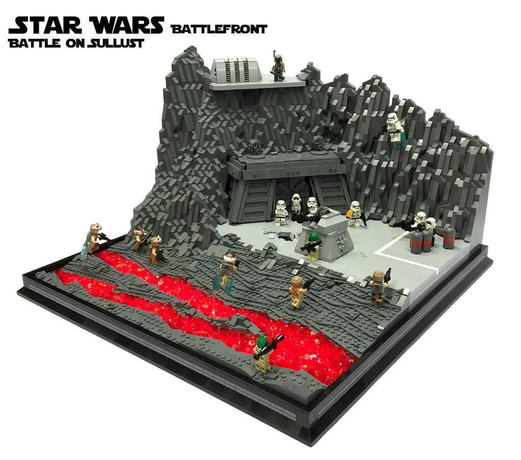 moc star wars battlefront battle on sullust lego star wars eurobricks forums. Black Bedroom Furniture Sets. Home Design Ideas