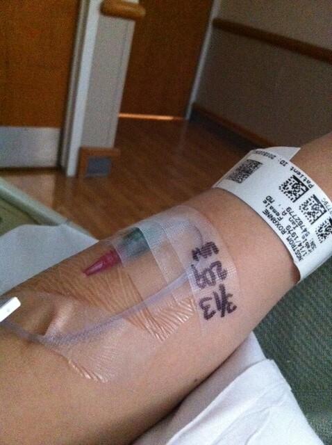 in hospital