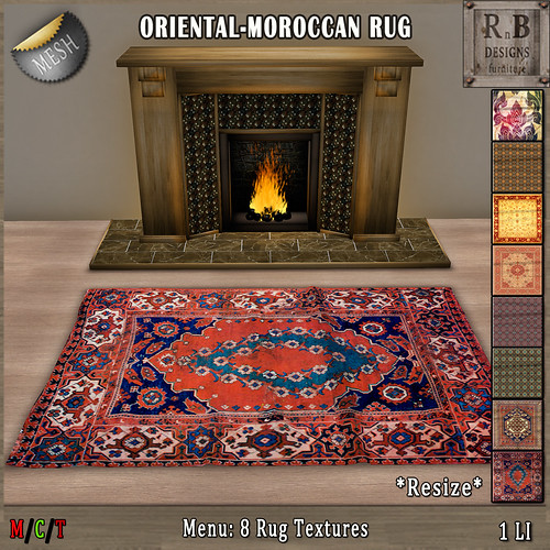 10L EXCLUSIVE NEW!!! *RnB* Mesh Rug - 8 Oriental-Moroccan Textures (copy)