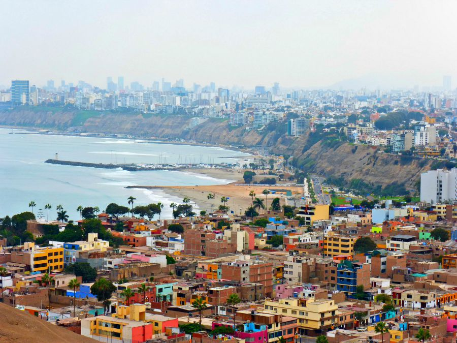 Lima Peru from above