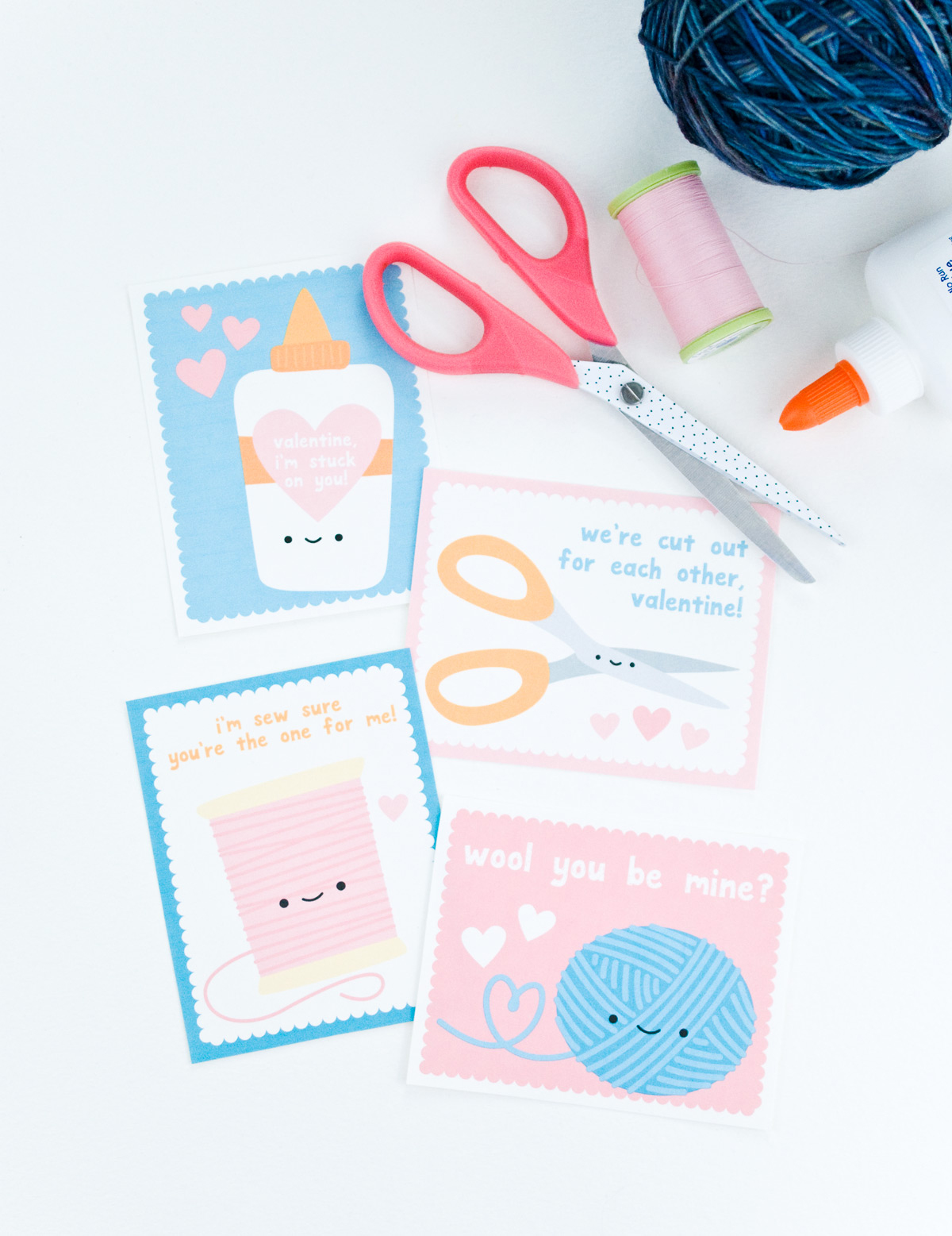 Printable Crafty Valentines