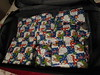 Wrapped Christmas presents in my suitcase