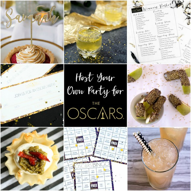 Host your own party for the Oscars collage.