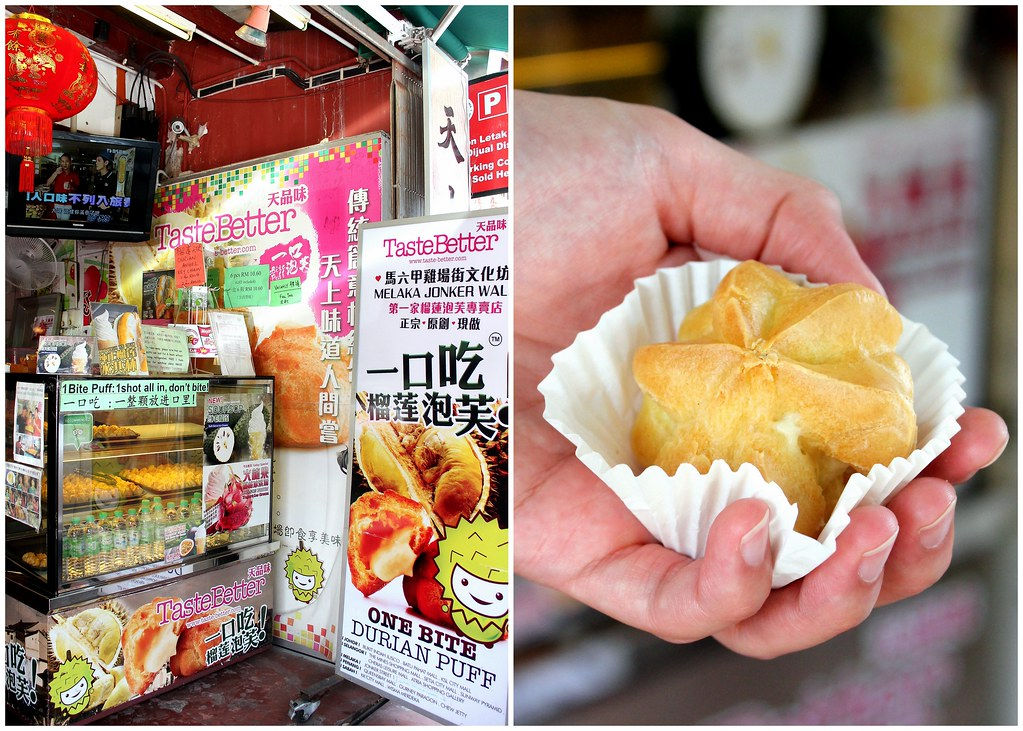 Malacca Food Guide: Taste Better Durian Puffs
