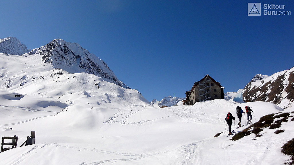 Franz Senn Hütte Stubaiské Alpy Österreich foto 05