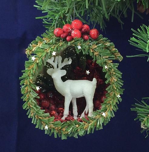 deer diorama ornament