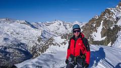 Na przełęczy Gran Etret 3002m.