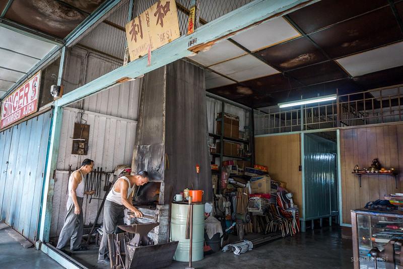 Blacksmith Sri Gading - Lai brothers at work
