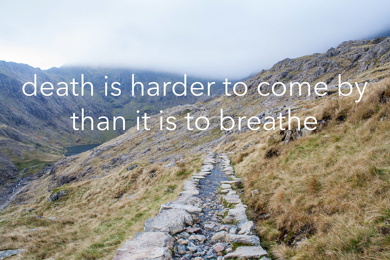 death is harder to come by than it is to breathe