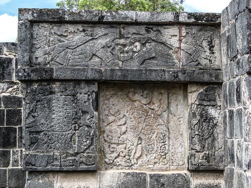 Chichen Itza: la Plate-forme des Aigles et des Jaguars