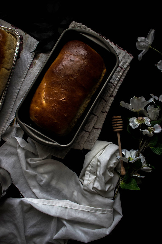 Roasted Sweet Balsamic Peach Stuffed Honey Buttermilk Bread