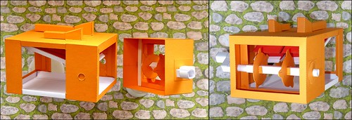 Twitterer-Box Paper model