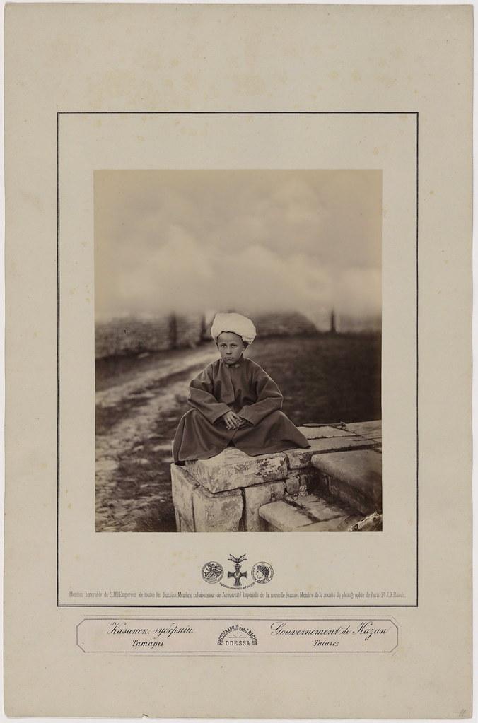 011. Рауль Ж. Казанская губерния. Татарский мальчик, 2-я пол. 1870-х