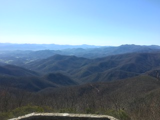 View from Fire tower on Wayah Bald