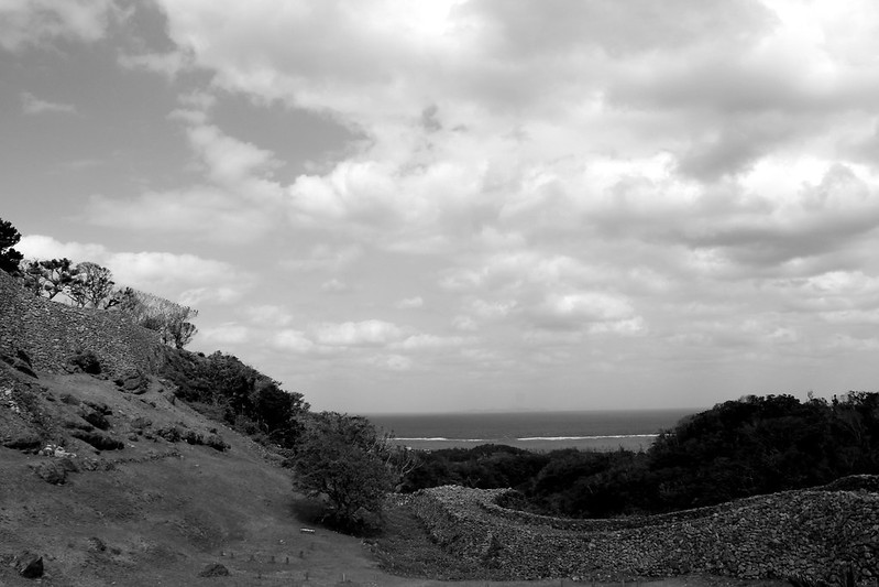 Landscape in Okinawa bw