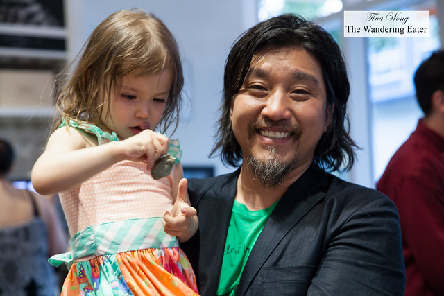 Chef Edward Lee and his daughter