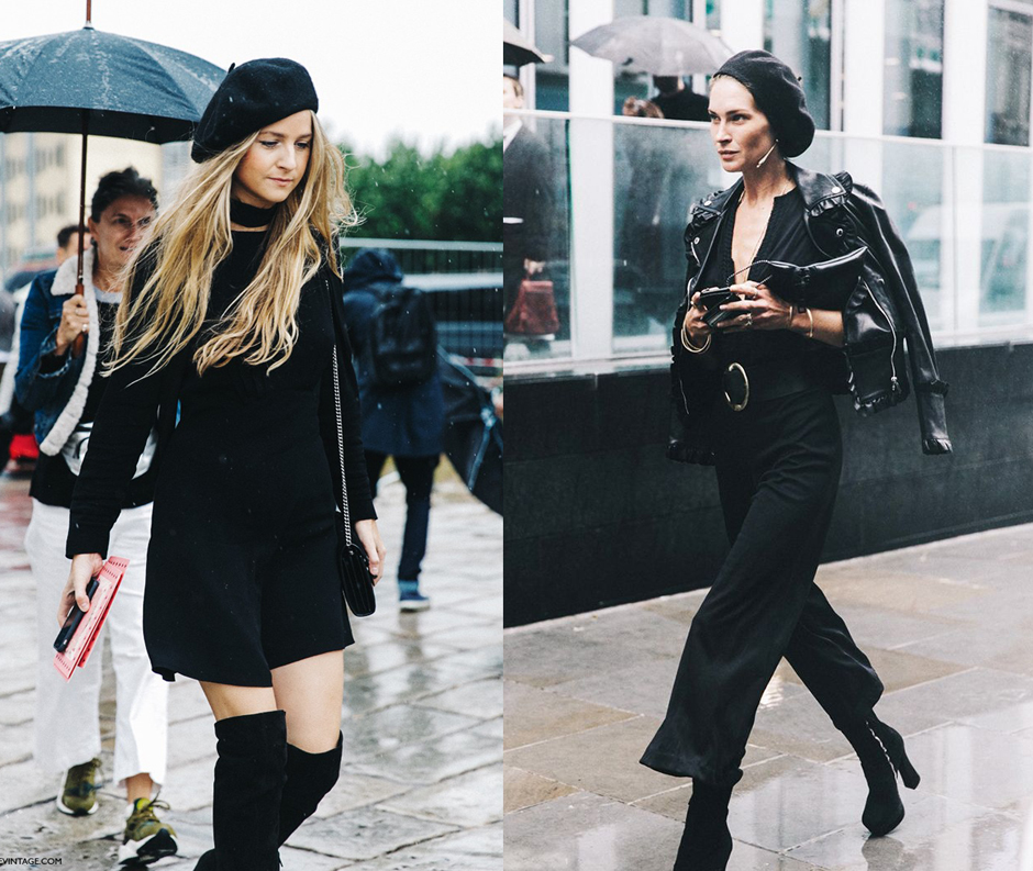 how-to-wear-beret-outfit-street-style