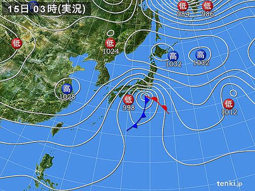 Photo:天気図_2014-02-15-03-00-00-large By:dokachin