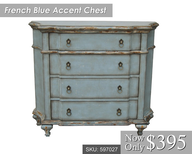 French Blue Accent Chest