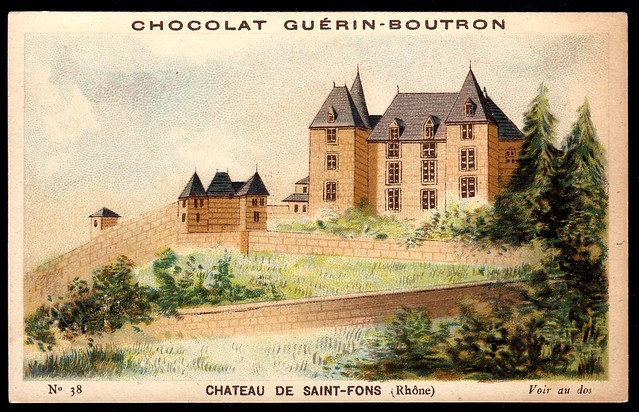 French Tradecard - Chateau de Saint-Fons
