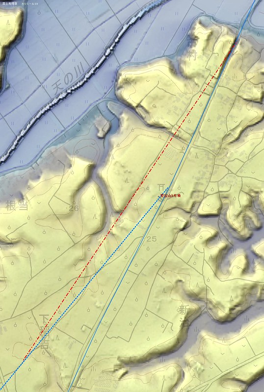 愛宕山古墳群と駅路痕跡