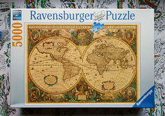 Antique World Map Puzzle.5000 Piece Puzzle Antique World Map 1630 By Hendrick Ho Flickr