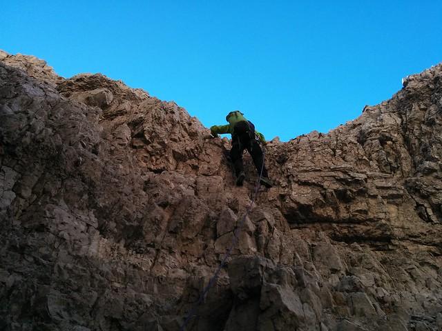 Erste Kletterpartie Aufstieg Große Zinne