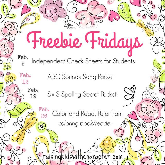 February Freebie Fridays
