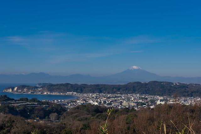 富士山・江の島・由比ヶ浜@パノラマ台