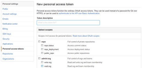 Get access token in GitHub