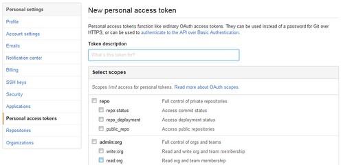 Get access token in GitHub