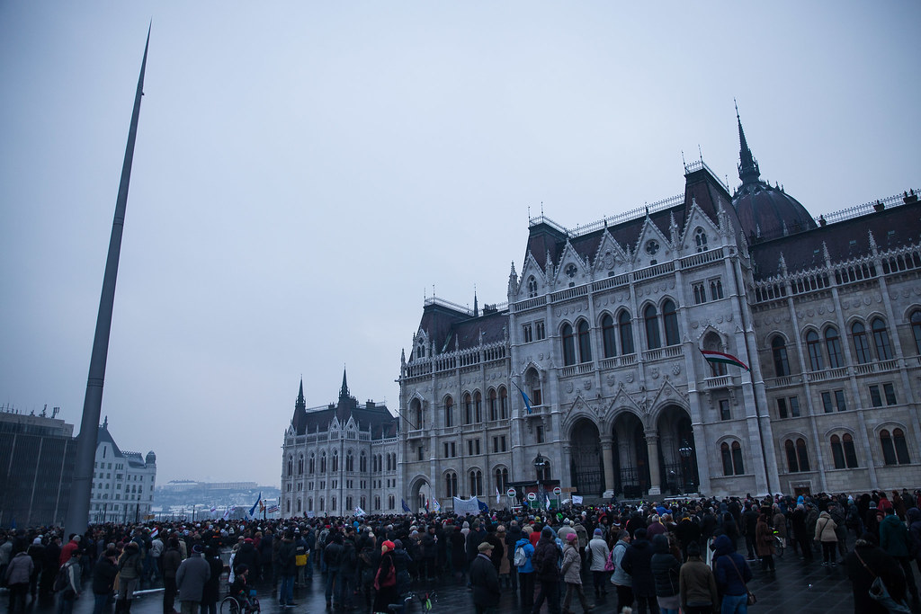 Opposition protest in Budapest