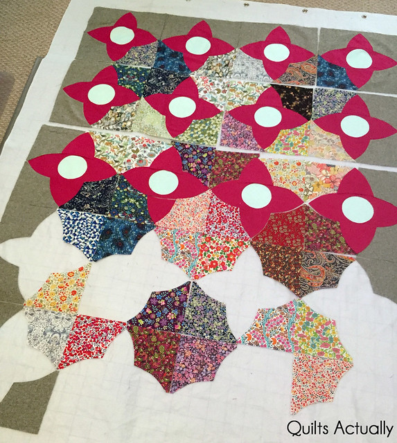 Meadow quilt in process
