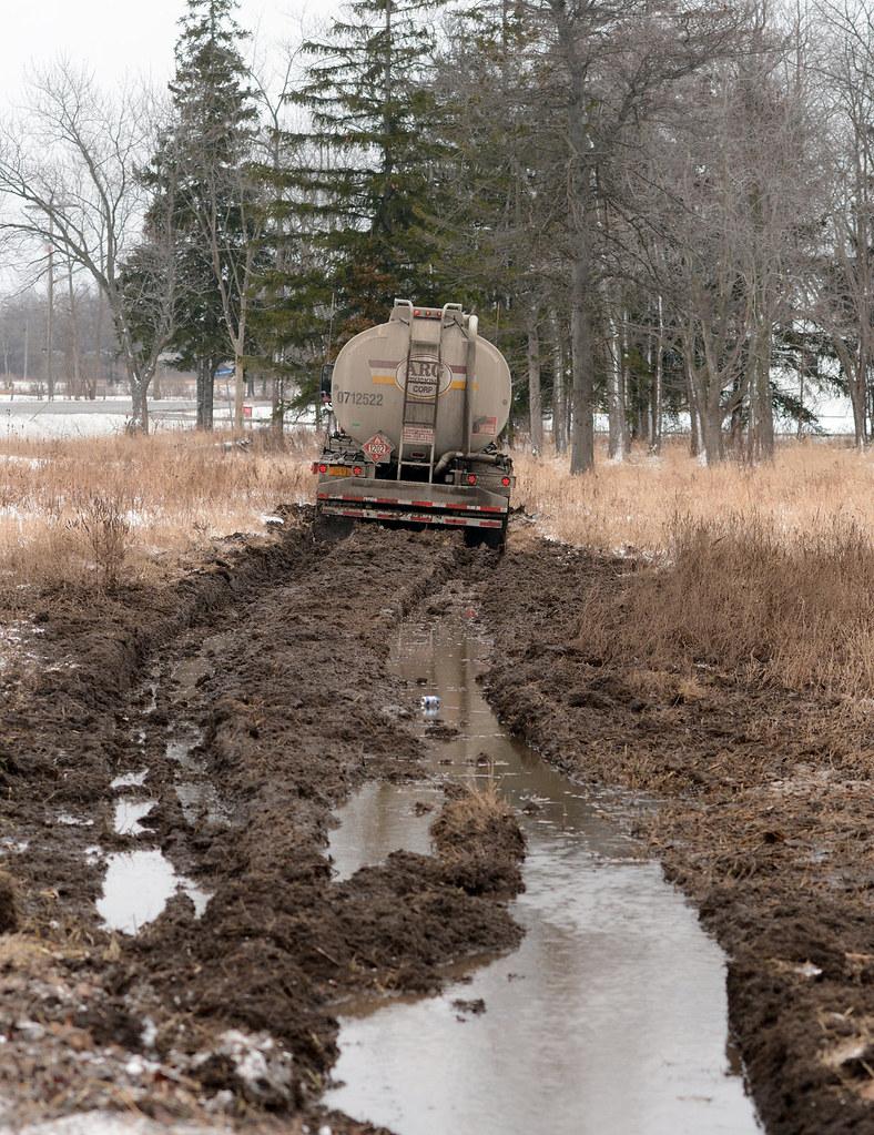 Diesel truck in field - Wainfleet