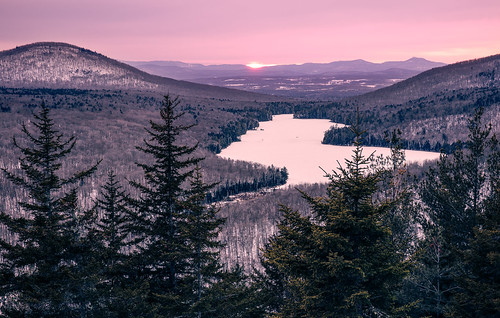 winter sunset landscape us vermont unitedstates camelshump groton kettlepond focusstack zerene owlsheadoverlook