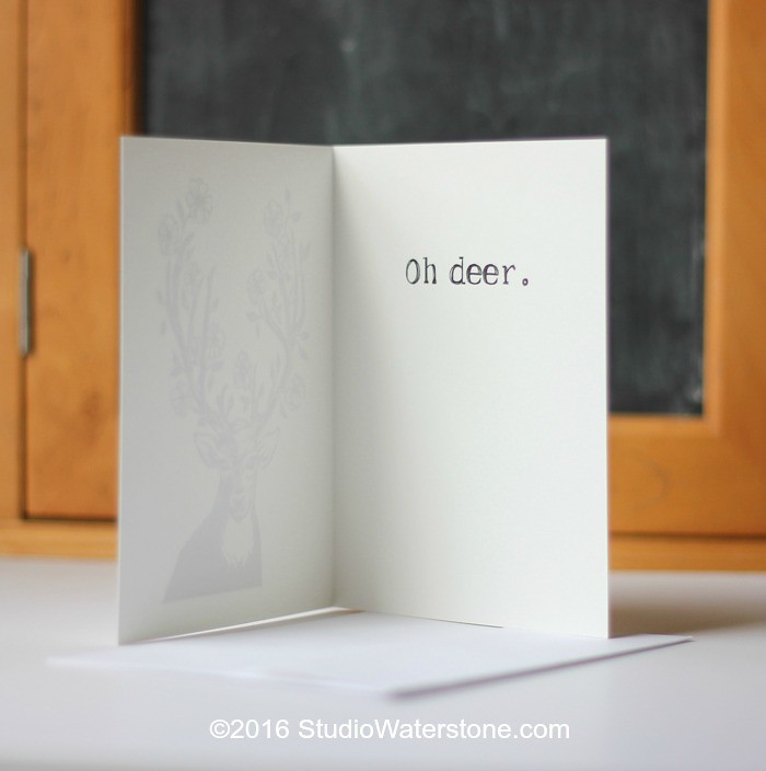 Oh Deer Card - Inside