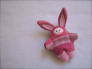 Scrappy BUNNY: Pink Ticking - fair