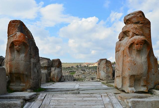 The Sphinx Gate, 14th century BC, Alacahöyük, Turkey