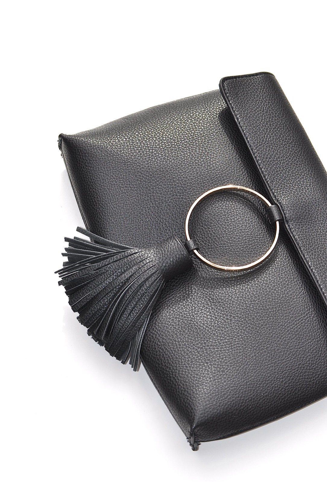 Asos Black circle clutch bag 1