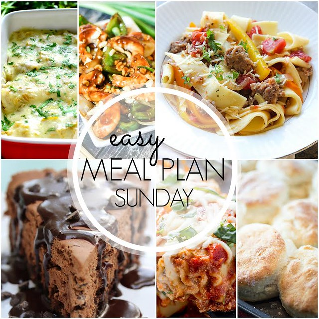 Week 41. Collaborative weekly meal planning. 9 bloggers. 6 dinner ideas, one-weekend breakfast plus 2 desserts every single week equals one heck of a delicious menu!