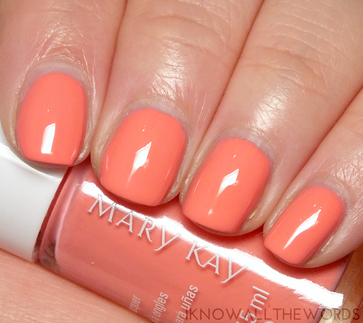 mary kay into the garden nail lacquer in Coral Blossom (1)