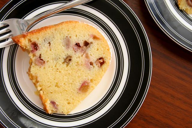 rhubarb pound cake 5