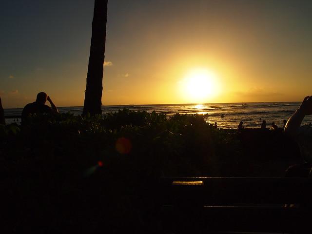 PB290632 ハワイ ワイキキビーチ サンセット hawaii waikiki beach sunset ひめごと ヒメゴト
