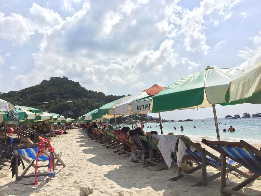 Parasols at Koh Nang Yuan