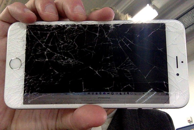 So much for not having a screen protector