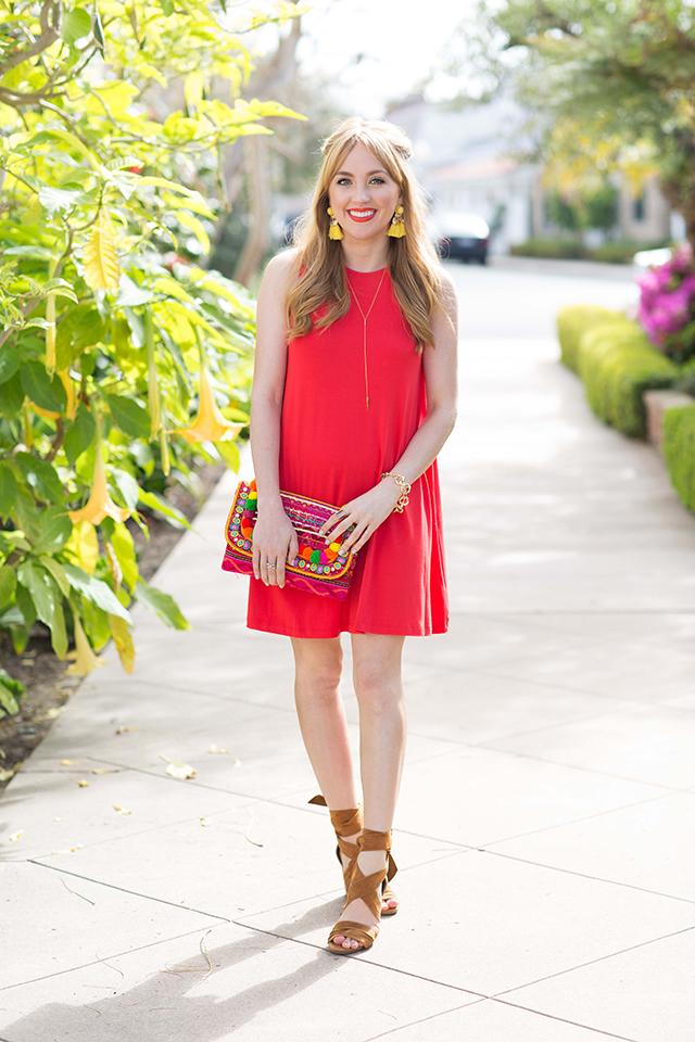 Hannah-hagler, Hannah-champagne-lifestyle, champagne-lifestyle, champagne-lifestyle-blog, fashion-blogger, affordable-fashion-blogger, budget-friendly-fashion-blog, budget-friendly-fashion-blogger, beauty-blogger, youtuber, female-youtuber, interior-designer, affordable-fashion, chic-fashion-ideas, fashion-inspiration, asos swing trapeze dress, trapeze-dress, red-trapeze-dress, summer-dress, easy-summer-dress, red-t-shirt-dress, baublebar-spike-lariat-necklace, baublebar-links-bracelet, baublebar-chain-bracelet, asos-pom-pom-clutch, pom-pom-clutch, rainbow-tassel-clutch, tassel-earrings, affordable-tassel-earrings, raye-the-label-mia-heels, mia-heels, revolve-rays-the-label-mia,