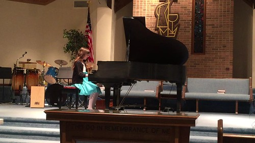Julia plays the Vivace movement of Clementi's Sonatina in C Major, Op 36, No. 1 at the Ribbon Festival