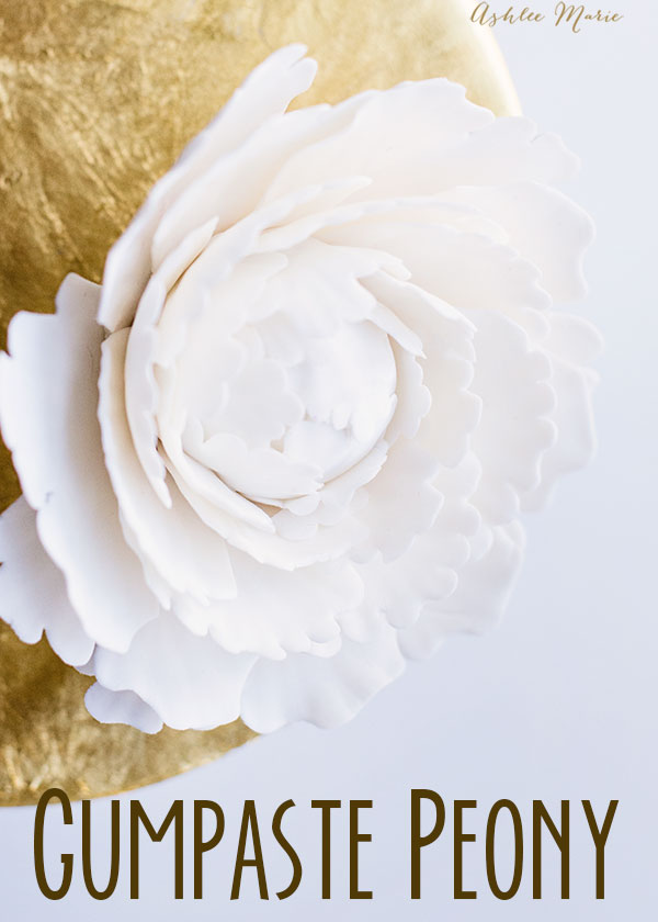 this gumpaste peony is easy to make, get a full video tutorial that will walk you through every step