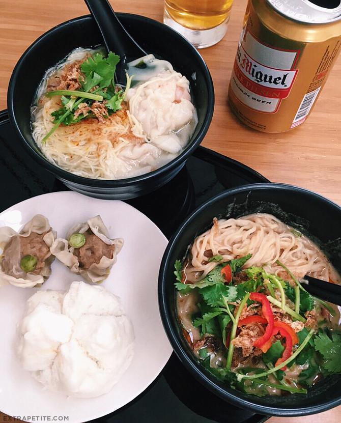 cathay pacific hong kong wing lounge noodle bar food