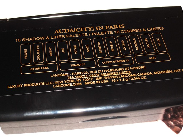 Lancôme Audacity in Paris Shade Names